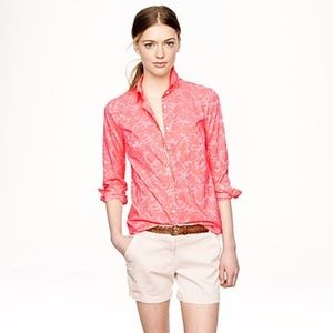 J. Crew Boy shirt in Tropical Floral size 8
